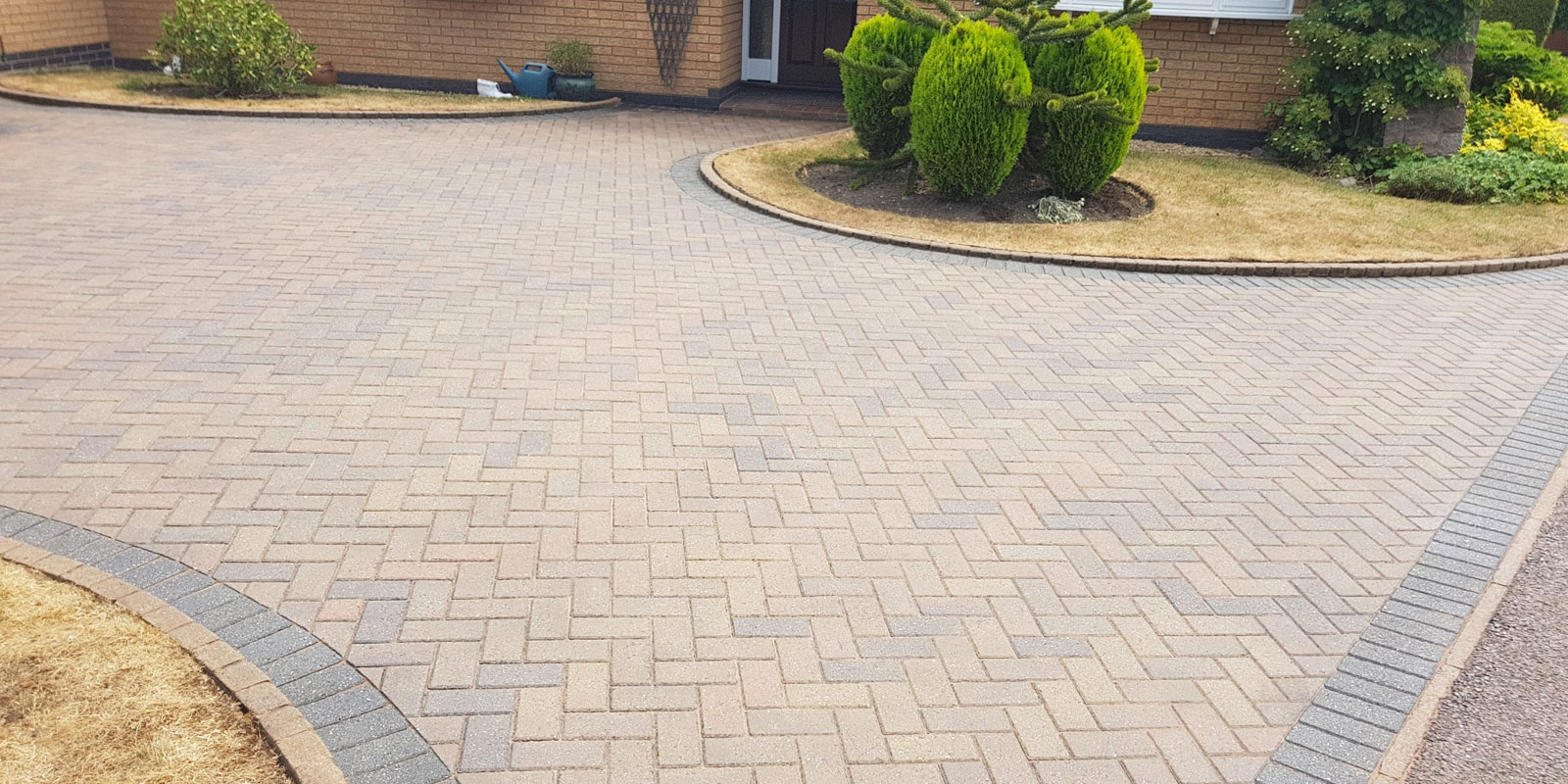 driveway block paving leicester front garden