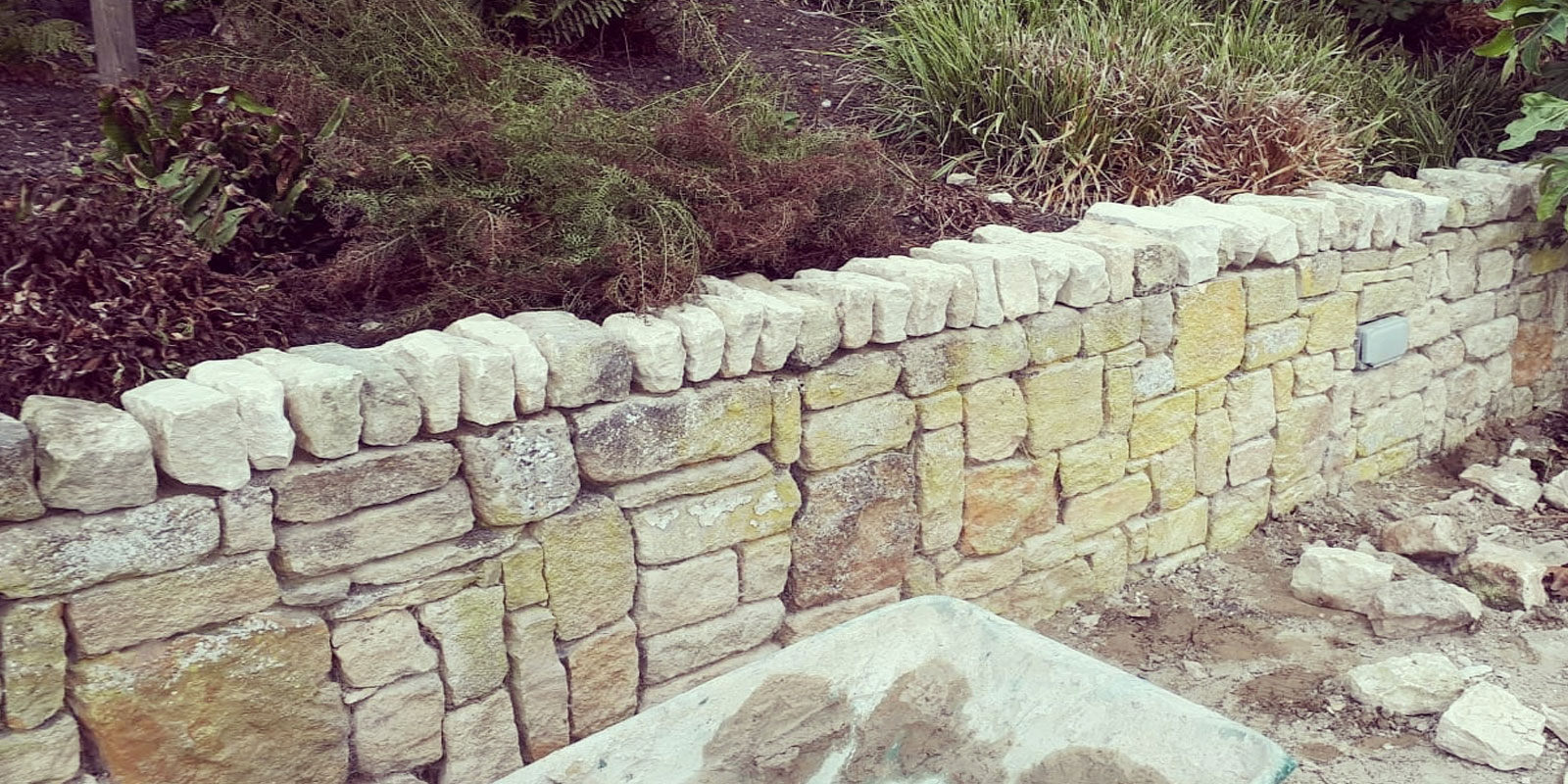 Hard Landscaping garden wall building